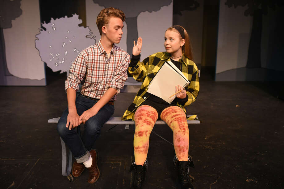 """Zach Jebsen and Abby Cheek in """"Project 398.2: In a Land Far Away,"""" an original play by the Pickwick Players. Photo: James Durbin/Reporter-Telegram"""