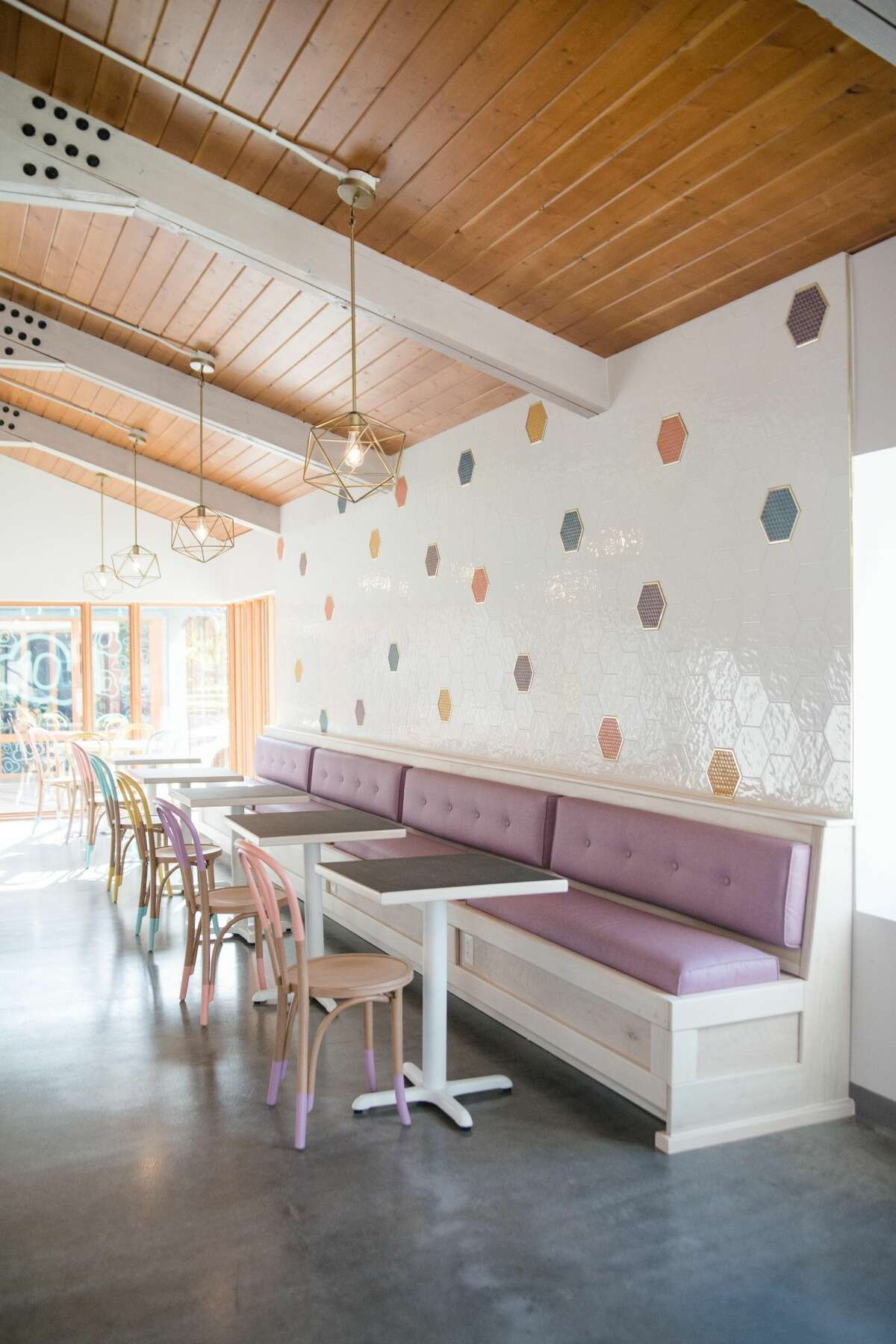 Melange Creperie's new Heights brick-and-mortar restaurant was designed by Tish Ochoa's own Clover Design Studio.