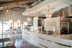 The crepe bar at Melange Creperie on Heights Boulevard