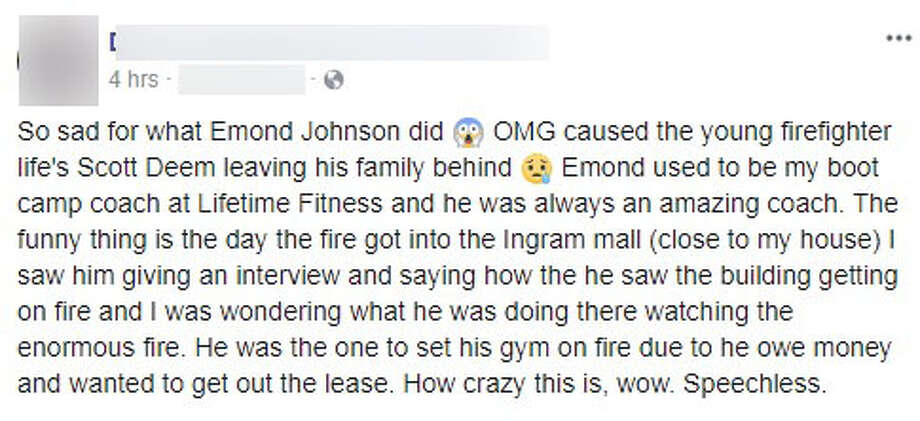 San Antonians took to Facebook to express their feelings after a local gym owner was arrested on murder and arson charges Oct. 4, 2017. Photo: Facebook