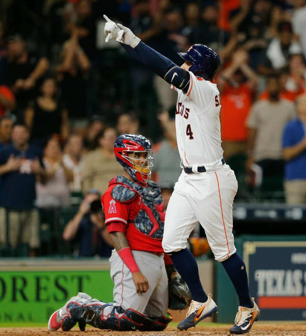 Springer hit a solo home run in the bottom of the seventh inning to bring the Astros within a run of the Angels, but Los Angeles scored another run in the eighth inning and held on to win 7-5.