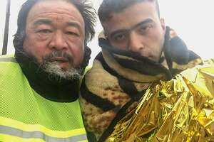 "Director Ai Weiwei in ""Human Flow,"" opening Oct. 20."