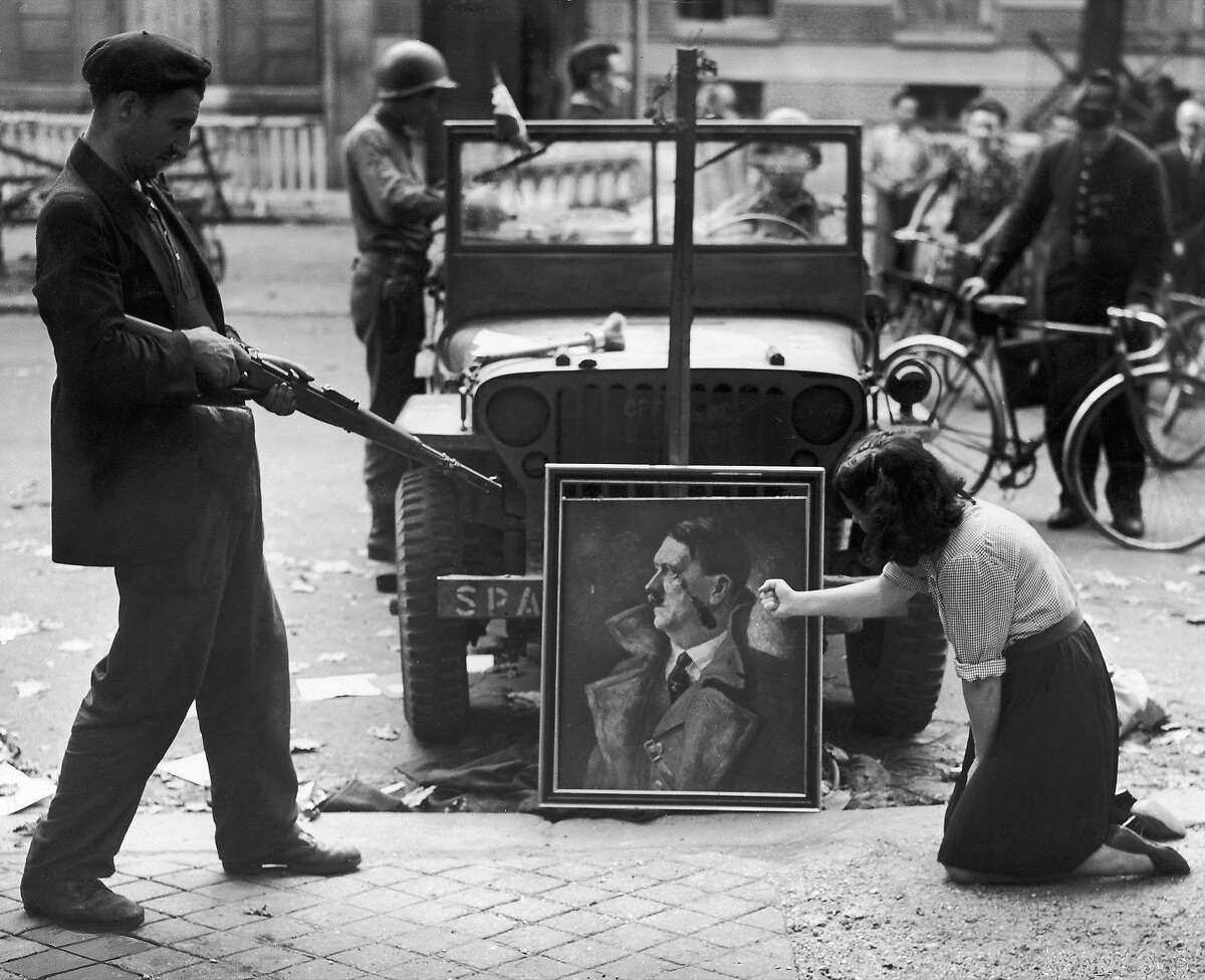 Paintings of Hitler -- rather than those by Hitler -- were often targets of vandalism at the end of World War II.