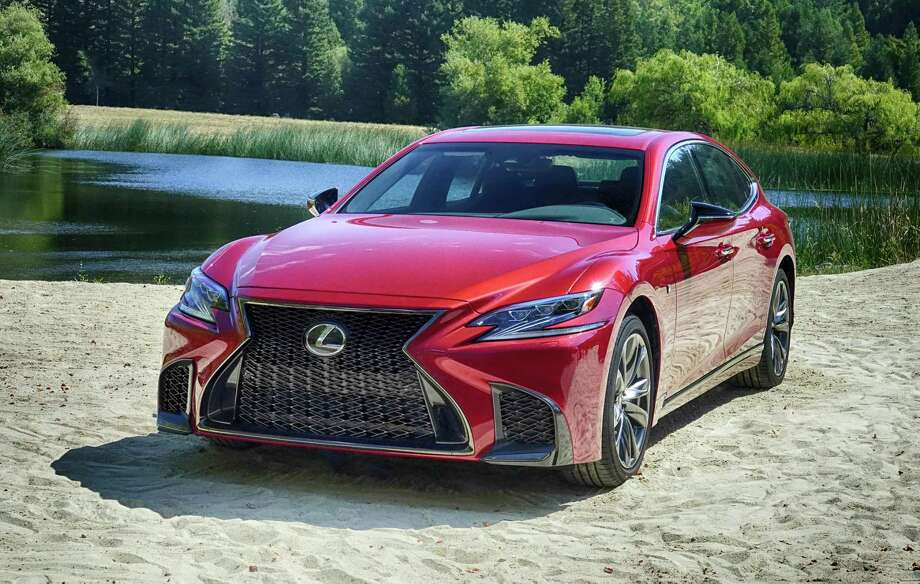 Scheduled to arrive in February, the 2018 Lexus LS is longer, lower and bolder. Among the long list of changes are slit-type projector headlights and a new twin-turbocharged V6 rated at 416 horsepower. Photo: Jeff Yip
