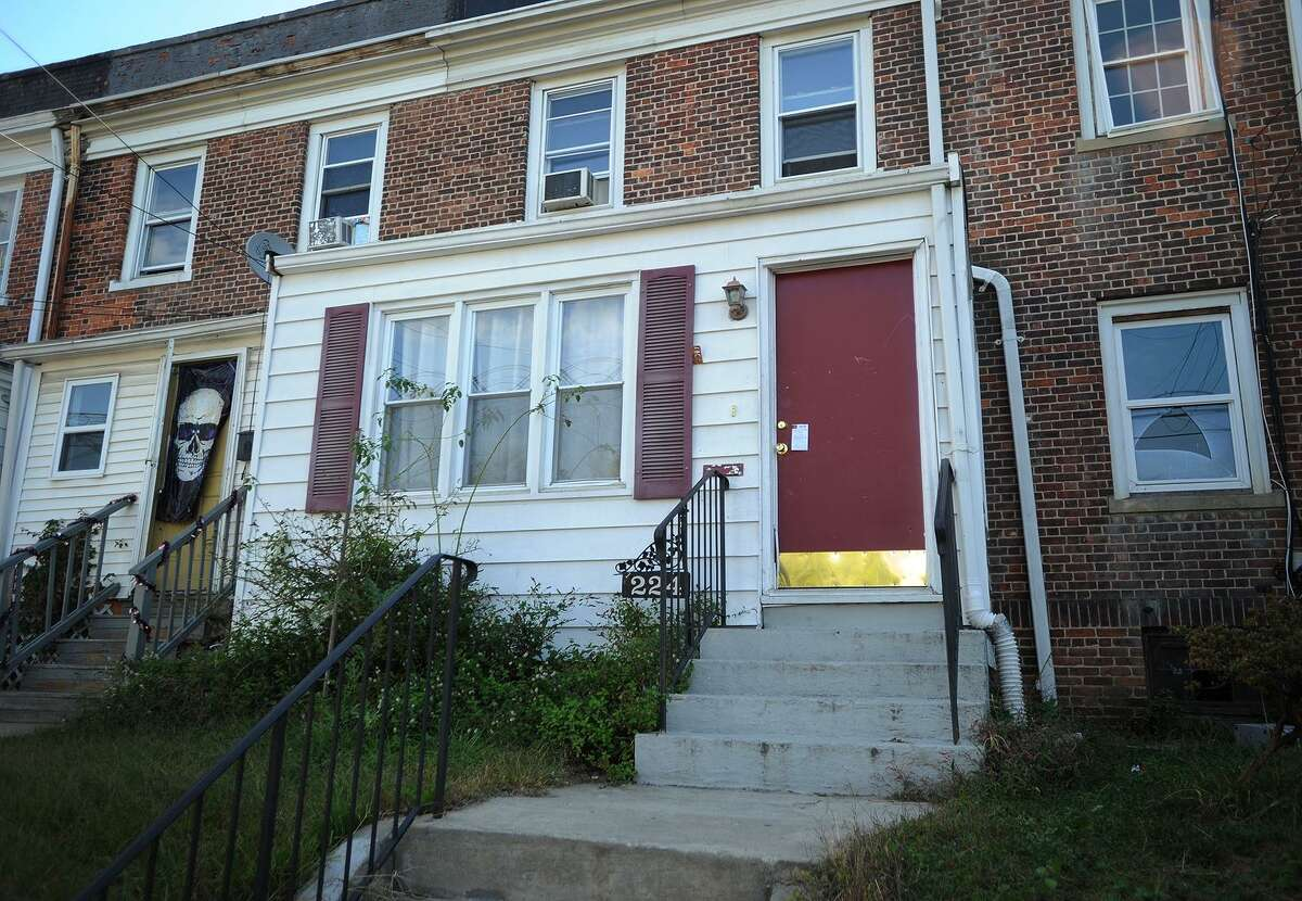 Dover Street in Bridgeport, Conn. where a man was shot ten times on Wednesday night. The 42-year-old man was outside his home when he was initially shot, then retreated into his residence where he was shot multiple more times.