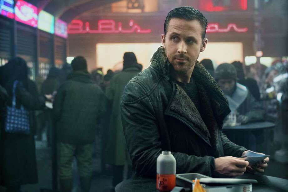 """Ryan Gosling stars as an LAPD officer in """"Blade Runner 2049."""" Photo: Stephen Vaughan, HONS / © 2017 Warner Bros. Entertainment Inc. All Rights Reserved."""