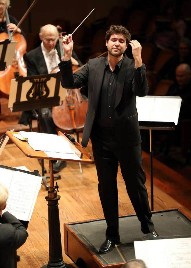 San Francisco Symphony Resident Conductor Christian Reif during Oktoberfest concert at Davies Symphony Hall in San Francisco, Calif., on Tuesday, October 3, 2017. Photo: Scott Strazzante, The Chronicle