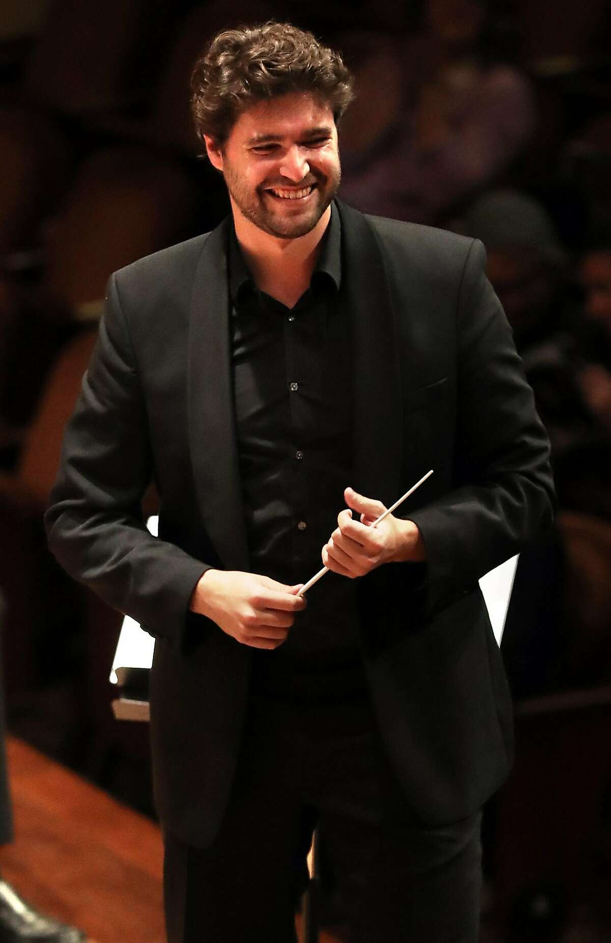 San Francisco Symphony Resident Conductor Christian Reif during Oktoberfest concert at Davies Symphony Hall in San Francisco, Calif., on Tuesday, October 3, 2017.