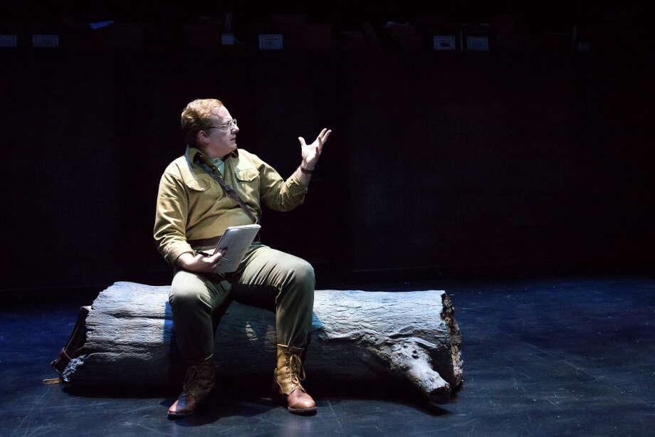 Jeffery Bean as Isaac in Alley Theatre's World Premiere of Describe the Night by Rajiv Joseph. The production runs through Oct. 15 at the University of Houston's Quintero Theatre. Photo: Lynn Lane / Lynn Lane