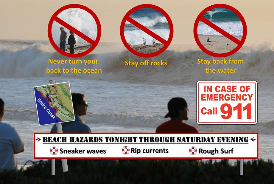 The National Weather Service issued a beach hazard statement Thursday for late Oct. 5 through the night of Oct. 6. Photo: National Weather Service