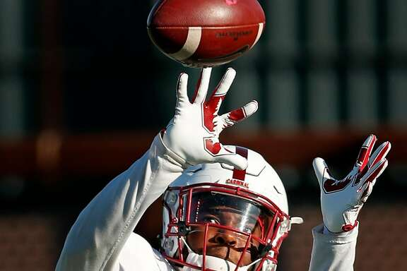 Stanford's Bryce Love during practice in Stanford, Calif., on Wednesday, October 4, 2017.