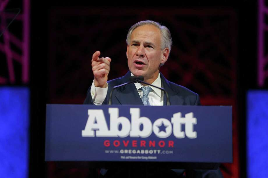 Gov. Greg Abbott speaks at the Republican Party of Texas State Convention at the Kay Bailey Hutchison Convention Center in Dallas on May 12, 2016. (Rodger Mallison/Fort Worth Star-Telegram/TNS) Photo: Rodger Mallison, FILE / TNS / Fort Worth Star-Telegram