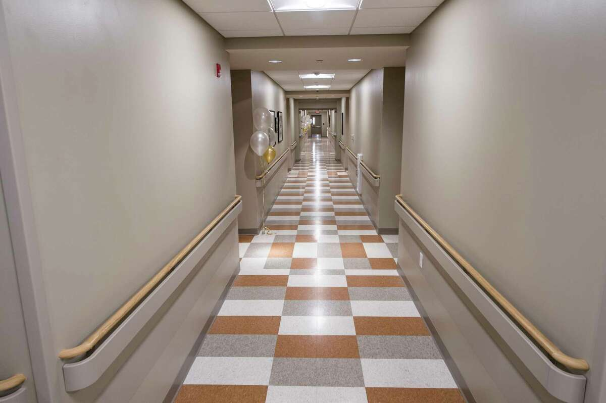 Interior view of the hallway of the newly opened Joseph Allen Apartments Thursday Oct. 5, 2017 in Schenectady, N.Y. (Skip Dickstein/Times Union)