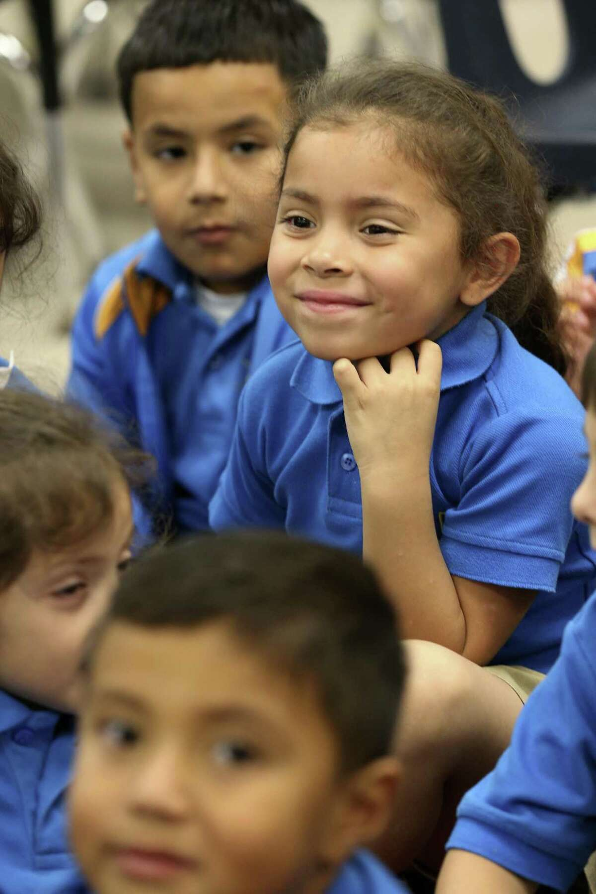 Annabelle Vasquez participates in a first grade english lesson at IDEA Monterrey Park on the city's West Side, Thursday, Oct. 5, 2017. IDEA Public Schools received a $67 million grant from the U.S. Department of Education that will allow it to expand.