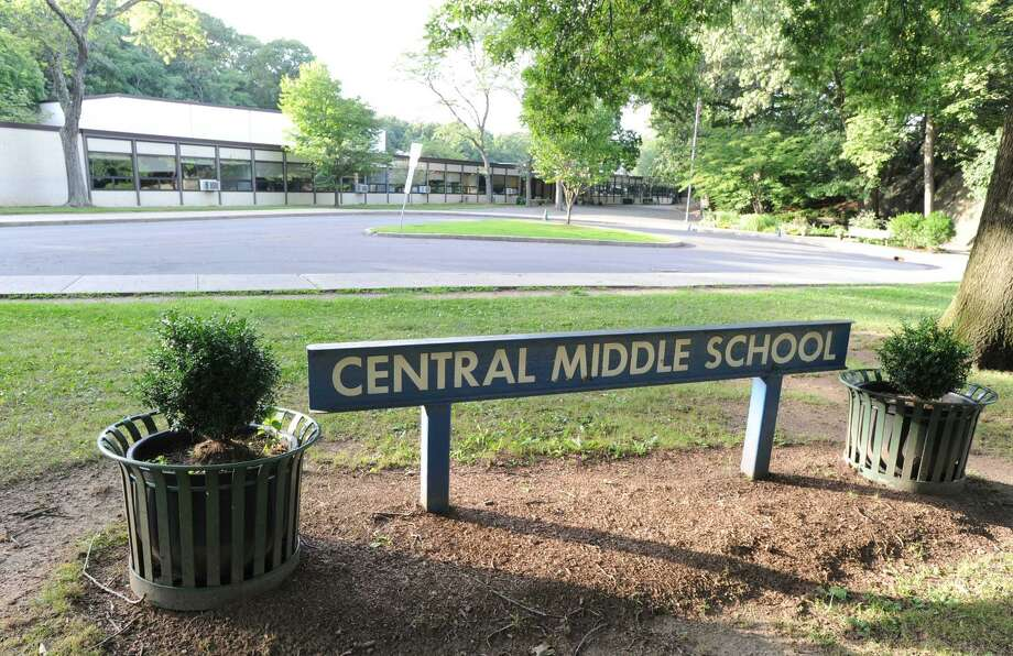 Exterior of the Central Middle School building in Greenwich, Conn. Photo: Bob Luckey / Bob Luckey / Greenwich Time