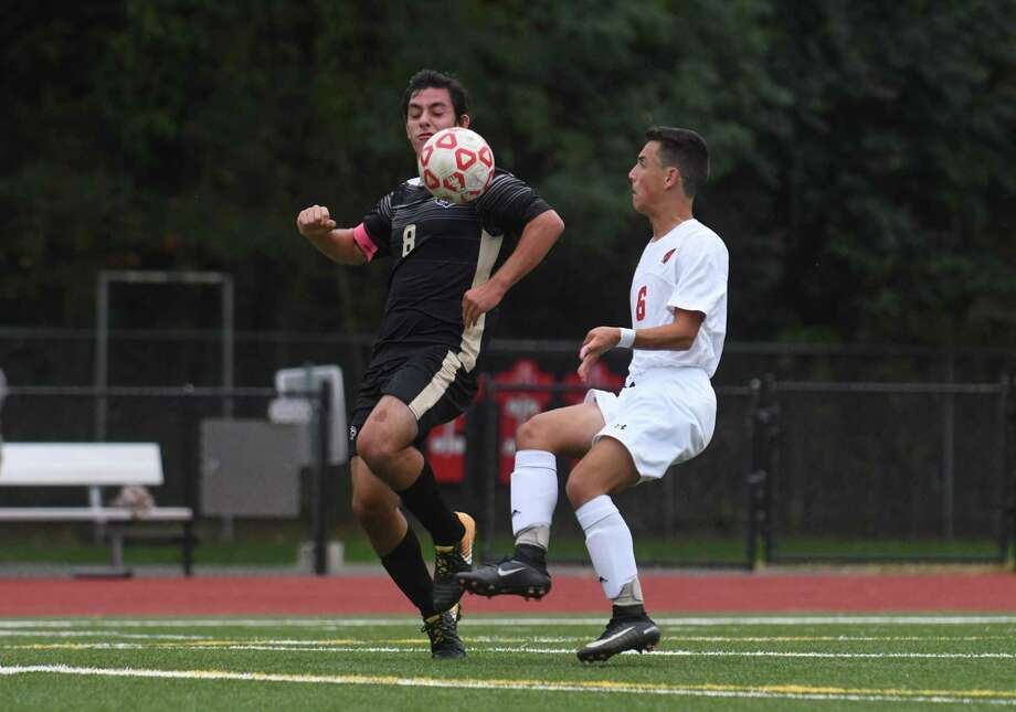 FCIAC soccer action between the Trumbull Eagles and the Greenwich Cardinals played at Greenwich High School on October 5, 2017 in Greenwich, Connecticut. Photo: Gregory Vasil / For Hearst Connecticut Media / Connecticut Post Freelance
