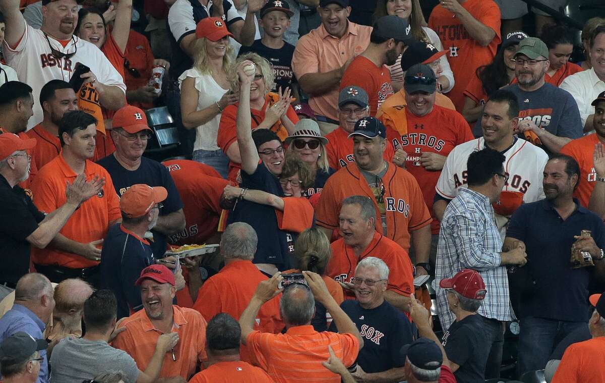 ALDS Game 1 between the Boston Reds Sox and the Houston Astros at Minute Maid Park on Thursday, Oct. 5, 2017, in Houston. ( Elizabeth Conley / Houston Chronicle )