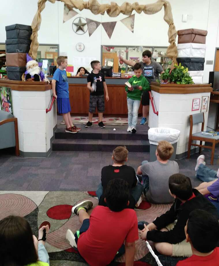 Splendora Junior High (SJH) sixth graders created book trailers for various books at the school library.