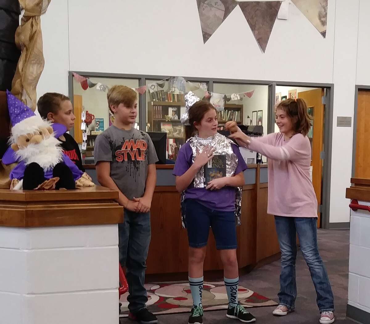 Splendora Junior High (SJH) sixth graders created book trailers from books that were in the school library. Media Specialist Amanda Faulkner said their props and commericals were very creative.