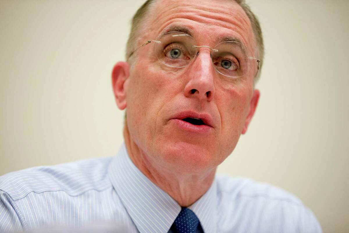 FILE - In this March 26, 2015, file photo, Rep. Tim Murphy, R-Pa., speaks on Capitol Hill in Washington. Murphy who was caught up in affair scandal, announces he plans to resign from Congress effective Oct. 21, 2017, according to House Speaker Paul Ryan. (AP Photo/Andrew Harnik, File) ORG XMIT: WX114