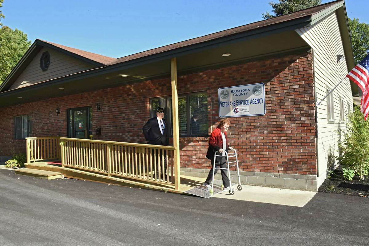 Exterior of the newly opened Veterans Service Agency Facility on Monday, Oct. 2, 2017 in Ballston Spa, N.Y. Veterans will be able to access programs and services and get access to online Veterans Affairs information. (Lori Van Buren / Times Union)