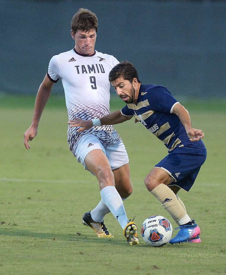 TAMIU forward Rafael Montabes had a team-high four shots, but the Dustdevils couldn't overcome a 2-0 deficit in the first five minutes losing at St. Mary's Saturday afternoon. Photo: Cuate Santos /Laredo Morning Times File / Laredo Morning Times