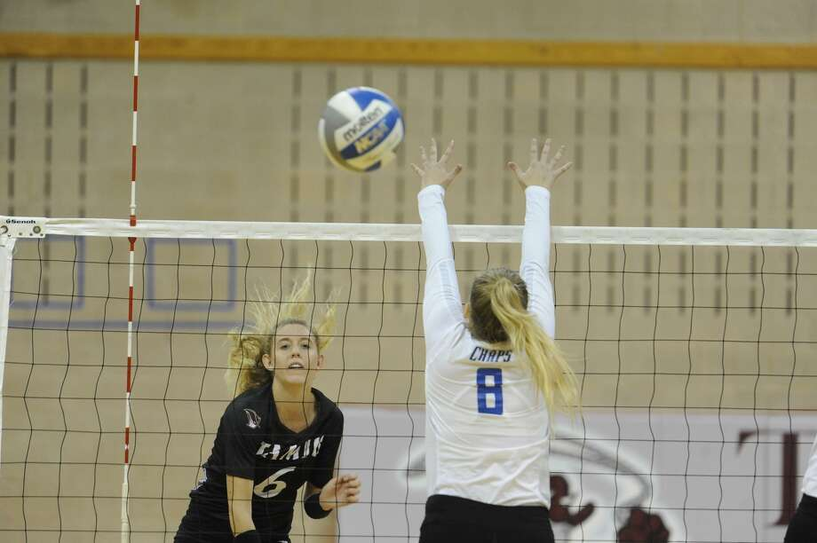 Leah McManus and the Dustdevils were swept 3-0 (25-14, 25-13, 25-10) on the road Friday by Arkansas-Fort Smith. Photo: Courtesy Of TAMIU Athletics