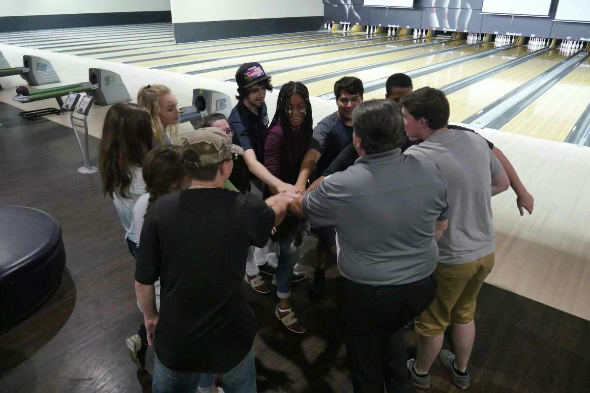 Coach Chris Desko and the Kingwood High School students who came out to tryout for the Kingwood Bowling Team