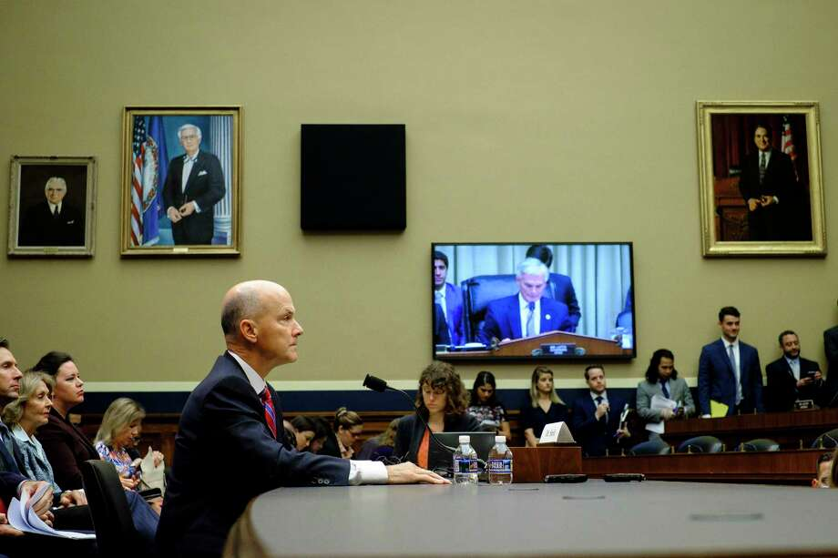 """A lawmaker asked Richard Smith, former CEO of Equifax, if she could take back her personal data.  """"That requires a much broader discussion around the role of the credit reporting agencies,"""" Smith responded. Photo: PETE MAROVICH, STR / NYTNS"""