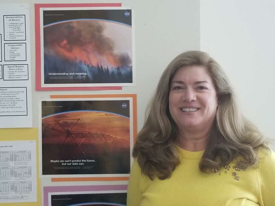 Stamford High School science teacher Sue Dougherty is leading a group of students in the Student Spaceflight Experiments Program. Photo: Contributed Photo