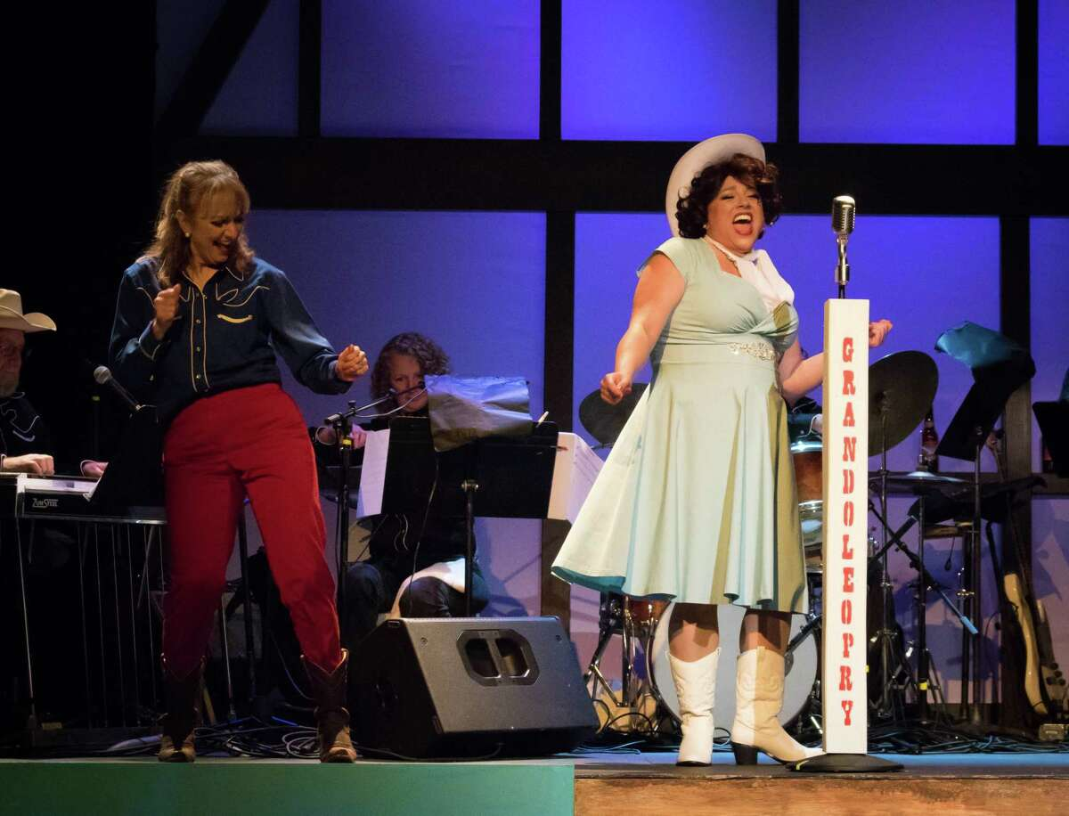 """Benita Zahn, left, and Molly Rose McGrath's in Park Playhouse's production of """"Always ... Patsy Cline"""" at Cohoes Music Hall last fall. The show will return in October. (Park Playhouse publicity photo.)"""