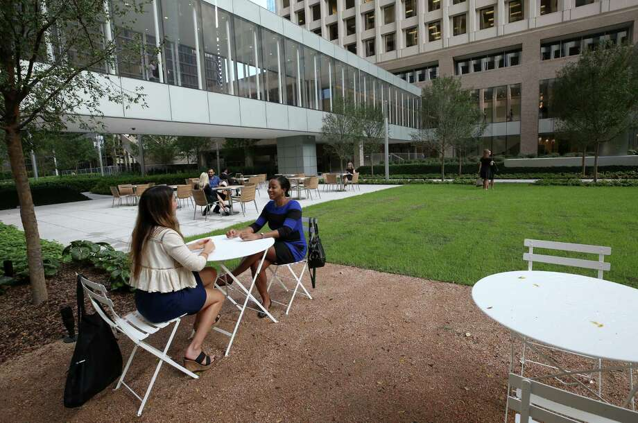 The Acre, a new park developed by Brookfield Commercial between One and Two Allen Center, will open to the public next Monday Wednesday, Oct. 4, 2017, in Houston.  ( Godofredo A. Vasquez / Houston Chronicle ) Photo: Godofredo A. Vasquez, Houston Chronicle / Godofredo A. Vasquez