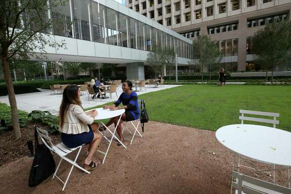 The Acre, a new park developed by Brookfield Commercial between One and Two Allen Center, will open to the public next Monday Wednesday, Oct. 4, 2017, in Houston.  ( Godofredo A. Vasquez / Houston Chronicle )