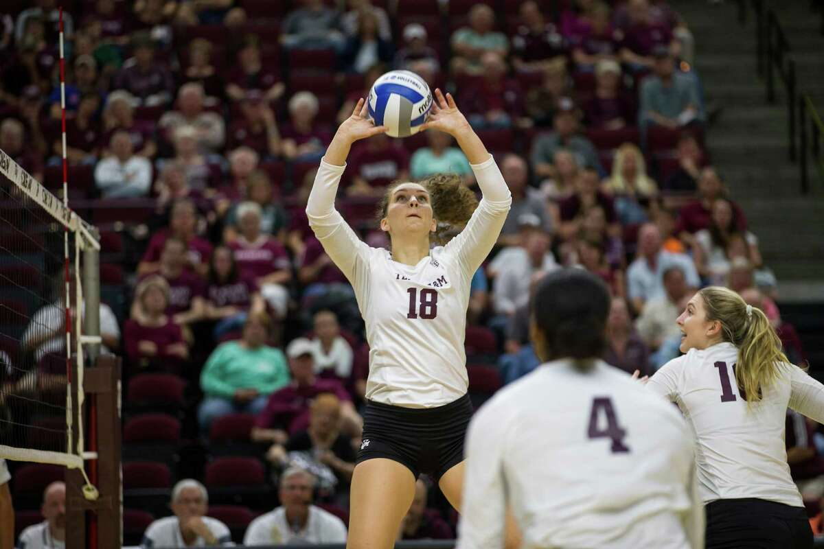 Seven Lakes graduate Camille Conner recorded 32 assists, nine kills and seven digs in her first NCAA match, a sweep of Sam Houston State. She leads Texas A&M with 308 assists (9.06 per set) to go with 55 kills, 71 digs (2.09), 10 aces and 16 blocks.