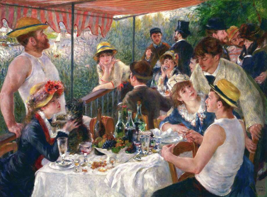 """Renoir's """"Luncheon of the Boating Party"""" is the centerpiece of a Phillips Collection exhibition, """"Renoir and Friends,"""" which examines the painting's creation, its place in Renoir's larger body of work, and its subject matter. Photo: The Phillips Collection / The Phillips Collection"""