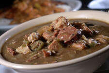Chicken and sausage gumbo at James Brown's Gumbo House and Grill in Vidor. Photo taken Thursday, October 05, 2017 Guiseppe Barranco/The Enterprise