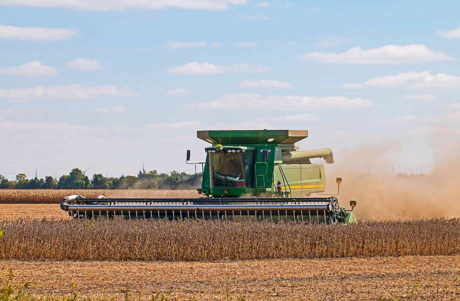 The harvest season is underway in Huron County, as seen in this photograph recently taken near Sebewaing. Photo: Bill Diller/For The Tribune