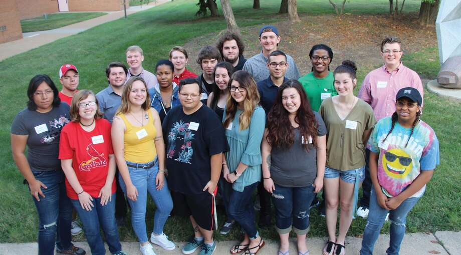 This fall Southwestern Illinois College welcomed the new and returning SWIC STEM Scholars, a group of students who have earned full-ride scholarships to study science, technology, engineering and math disciplines. Pictured from left, front row, are: Ana Flores-Garcia of Collinsville, Emily Reese of Belleville, Summer Wolfe of Granite City, Kevin Brutto of Collinsville, Olivia Hood of Sparta, Alyssa Evans of Caseyville, Jayda Pearman of Sparta and Rachel Barge of Fairview Heights; middle row, Josh Westenberger of Baldwin, Chandler Scott of Scott Air Force Base, Tasia Vickers of Centreville, Tyler Cronin of Troy, Jasmin Ruiz of Granite City, Hunter Bienek and Aaron Courtland, both of Belleville, and Dylan Wilson of Red Bud; back row, Joe McKinnon of Troy, Caleb Gray of Maryville, Joel Musick of Fairview Heights and Jack Richards of Red Bud. Not pictured, Luke Marcrum of Belleville. STEM Scholars will be paired with faculty mentors, participate in study groups, take part in off-campus activities, such as college visits, and enroll in special topics courses. SWIC received a more than $600,000 National Science Foundation S-STEM grant to develop the STEM Scholars Program. Photo: For The Intelligencer