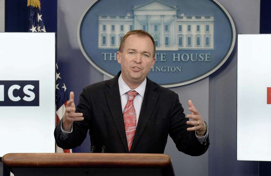 Office of Management and Budget Director Mick Mulvaney speaks at a news briefing at the White House on July 20. Photo: File Photo / Abaca Press