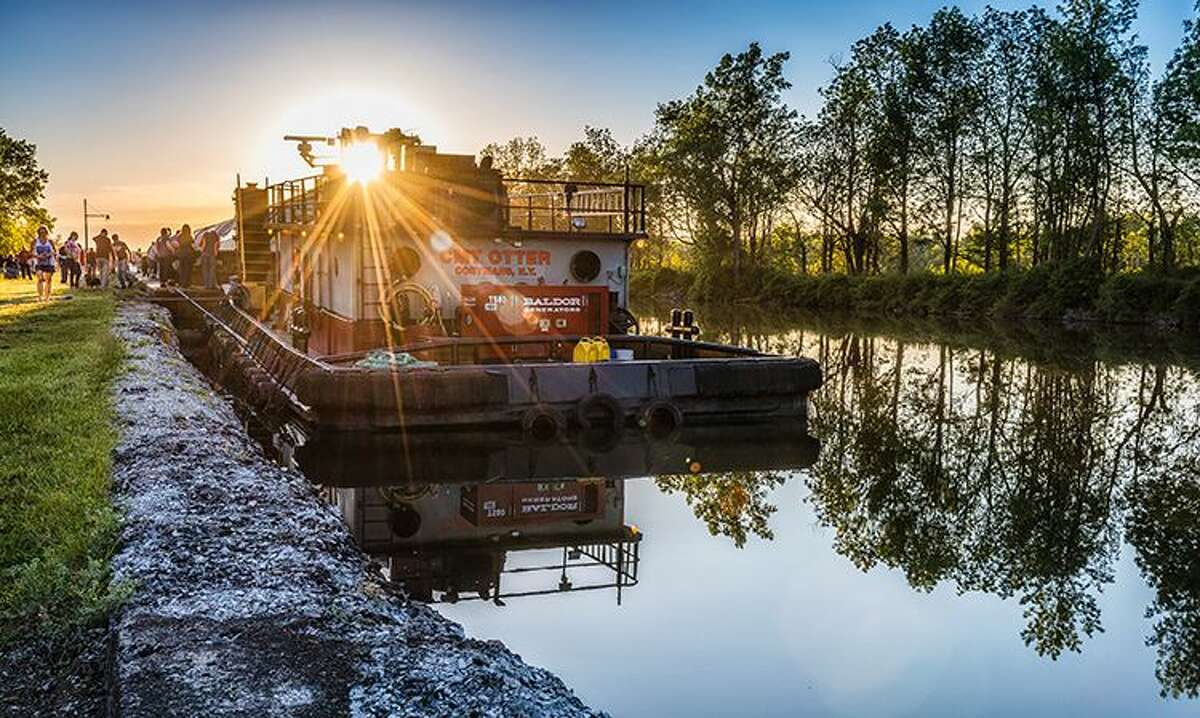 Setting Sun on the Tug, Macedon, by Joann Long of Bloomfield is the third-place winner, On the Water category, in the Erie Canalway National Heritage Corridor's 12th Annual Erie Canalway Photo Contest.