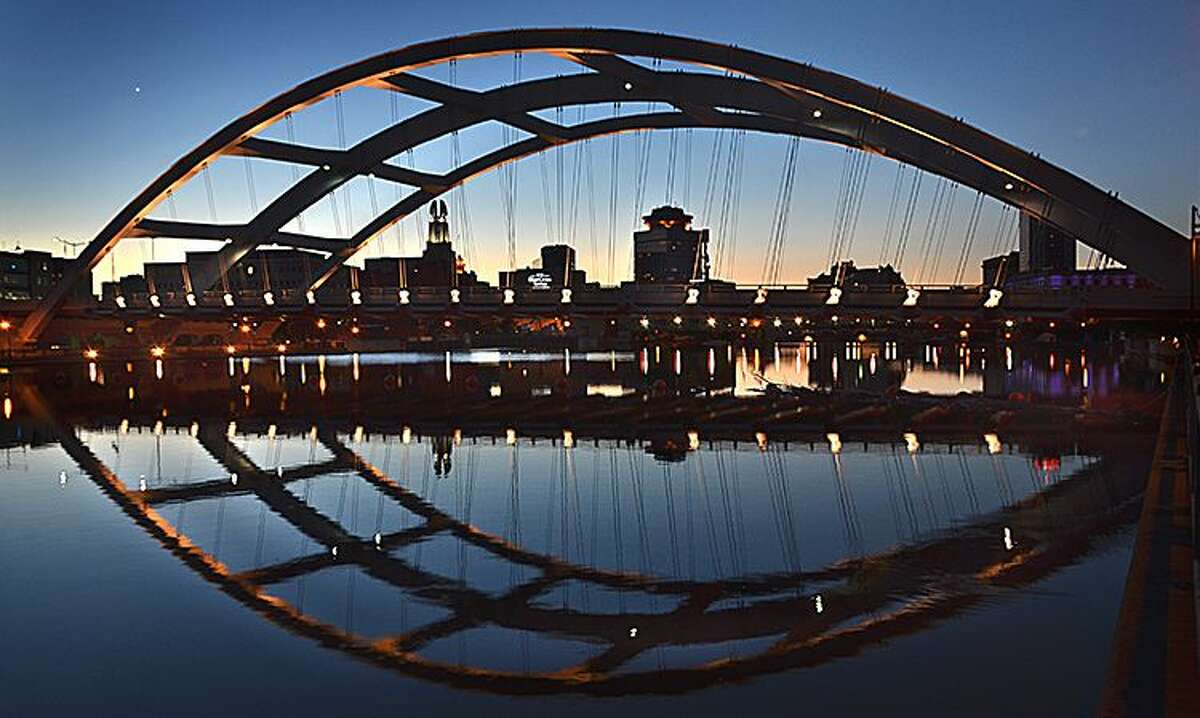 A River, A Bridge, A City, Rochester, by Ira Srole of Rochester is the second-place winner in the Canal Communities category, Erie Canalway National Heritage Corridor's 12th Annual Erie Canalway Photo Contest.