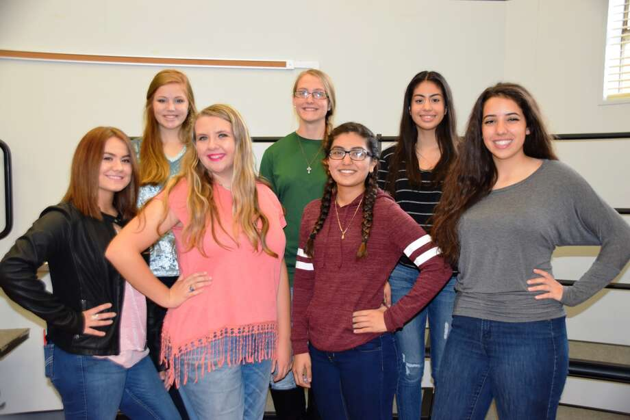 Plainview High School sopranos and altos selected to the All-Region Choir include Allyson Solis (front left), Emily Franklin, Magy Hernandez, Erin Wilkinson, Lainie Nelson (back left), Camarie Henerson and Gillian Gonzales.