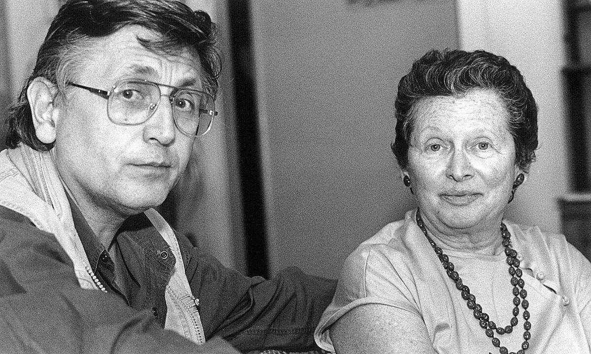 Czech Filmmaker, Jiri Menzel with Judy Stone, San Francisco International Film Festival, 1990 � Pamela Gentile, 1990