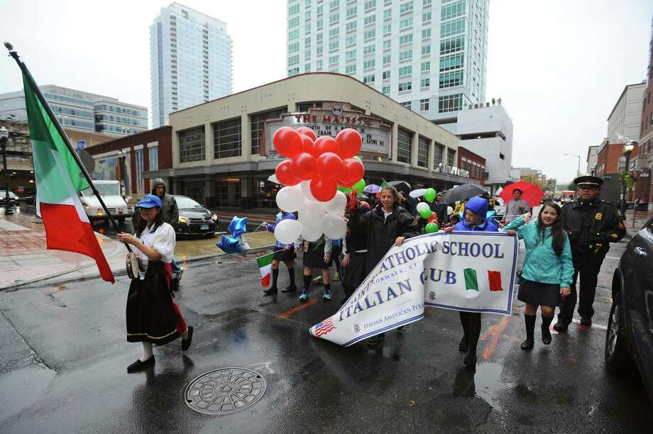 Last year's Columbus Day Parade in downtown Stamford, Conn. on Sunday, Oct. 9, 2016. Photo: Michael Cummo / Hearst Connecticut Media / Stamford Advocate