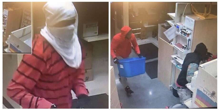 Burglars targeted the HEB Pharmacy located inside the store in the 3500 block of Rayford Road around 2:30 a.m. Wednesday. Surveillance video shows three men breaking into the pharmacy and stealing several prescription medications. Anyone with information is urged to contact the Montgomery County Sheriff's Office at 936-760-5800 or Crime Stoppers at 1-800-392-STOP (7867) and refer to case #17A298821. Photo: MCSO