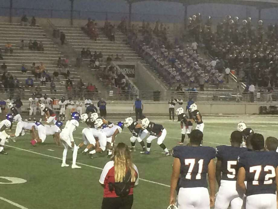 The Atascocita Eagles' offense put up 503 total yards in their 62-7 win over the Channelview Falcons on Thursday night at Turner Stadium Photo: Elliott Lapin