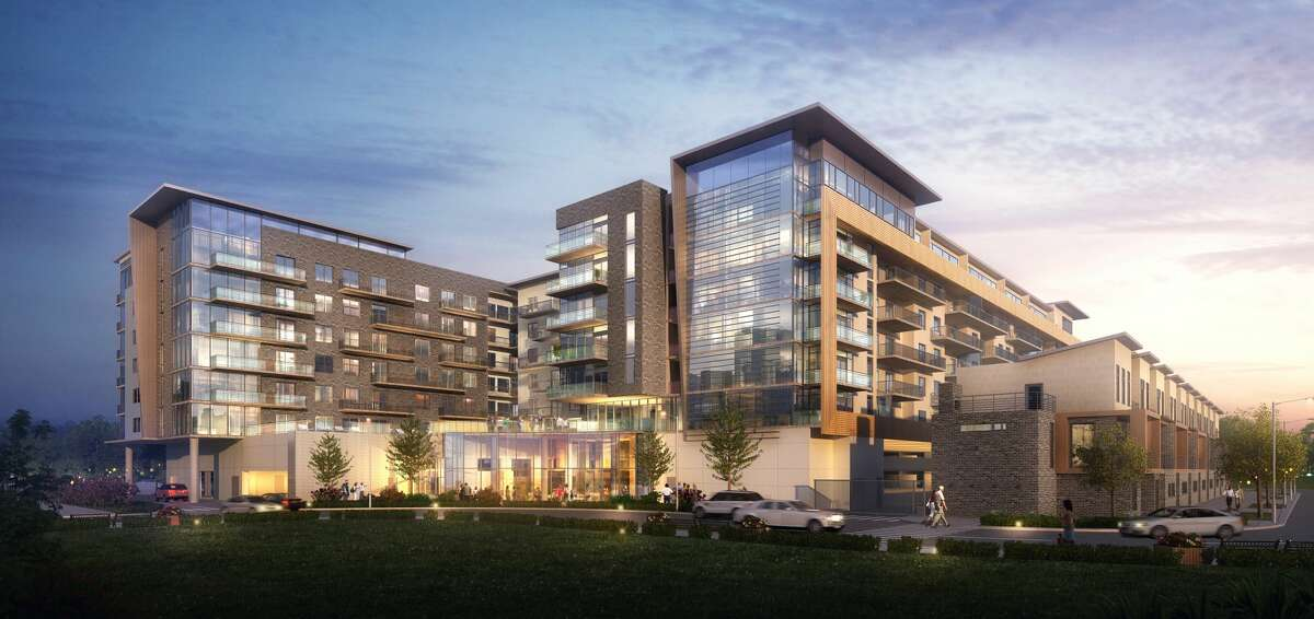 Rendering of The Hayworth apartment building in the Tanglewood area.