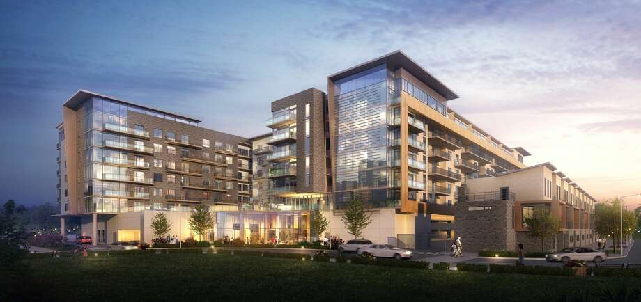 Rendering of The Hayworth apartment building in the Tanglewood area. Photo: 5G Studio