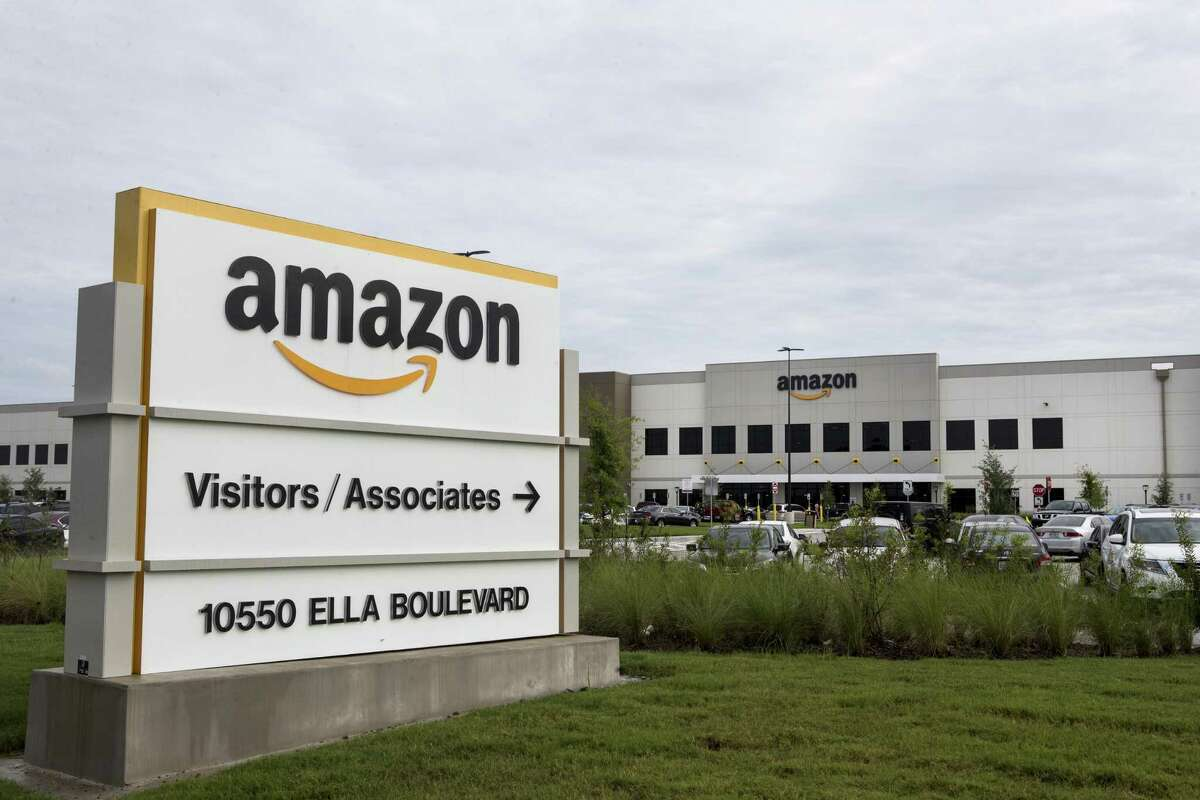The Amazon warehouse complex is shown on Wednesday, Sept. 27, 2017, in Houston.