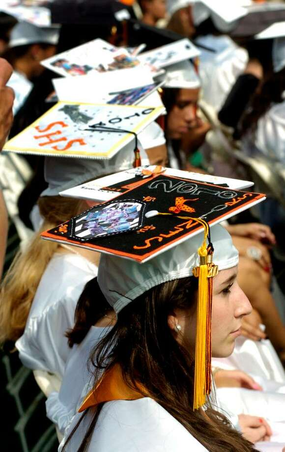 The class of 2010 graduates from Stamford High School on Thursday June 24, 2010 in Stamford, Conn. Photo: Dru Nadler / Stamford Advocate